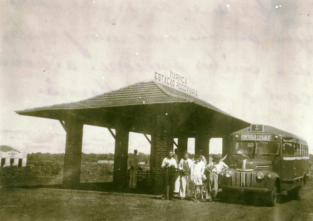 Praça da Rodoviária - Final da década de 1940