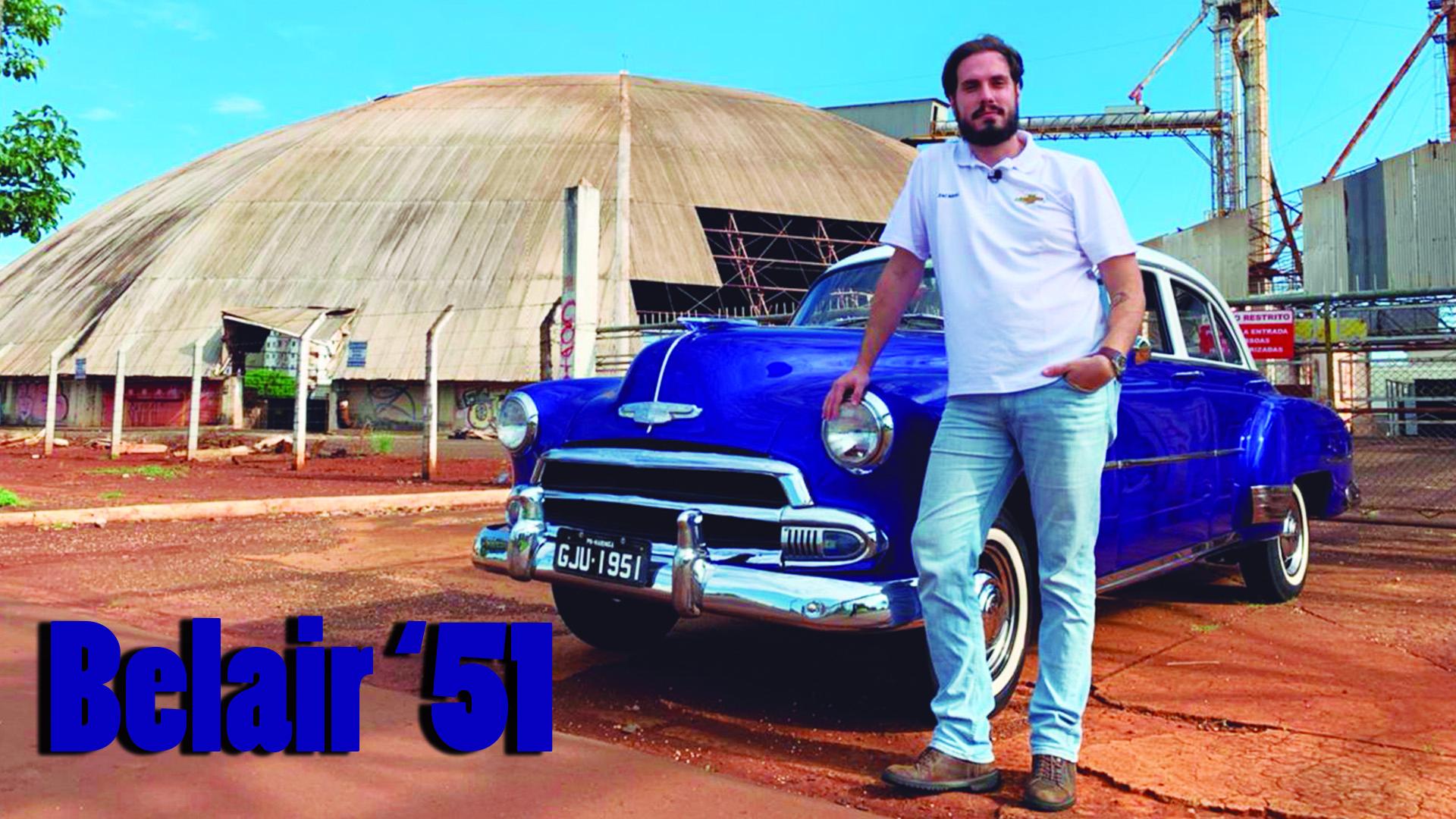 Carona Histórica com um Chevrolet Belair '51