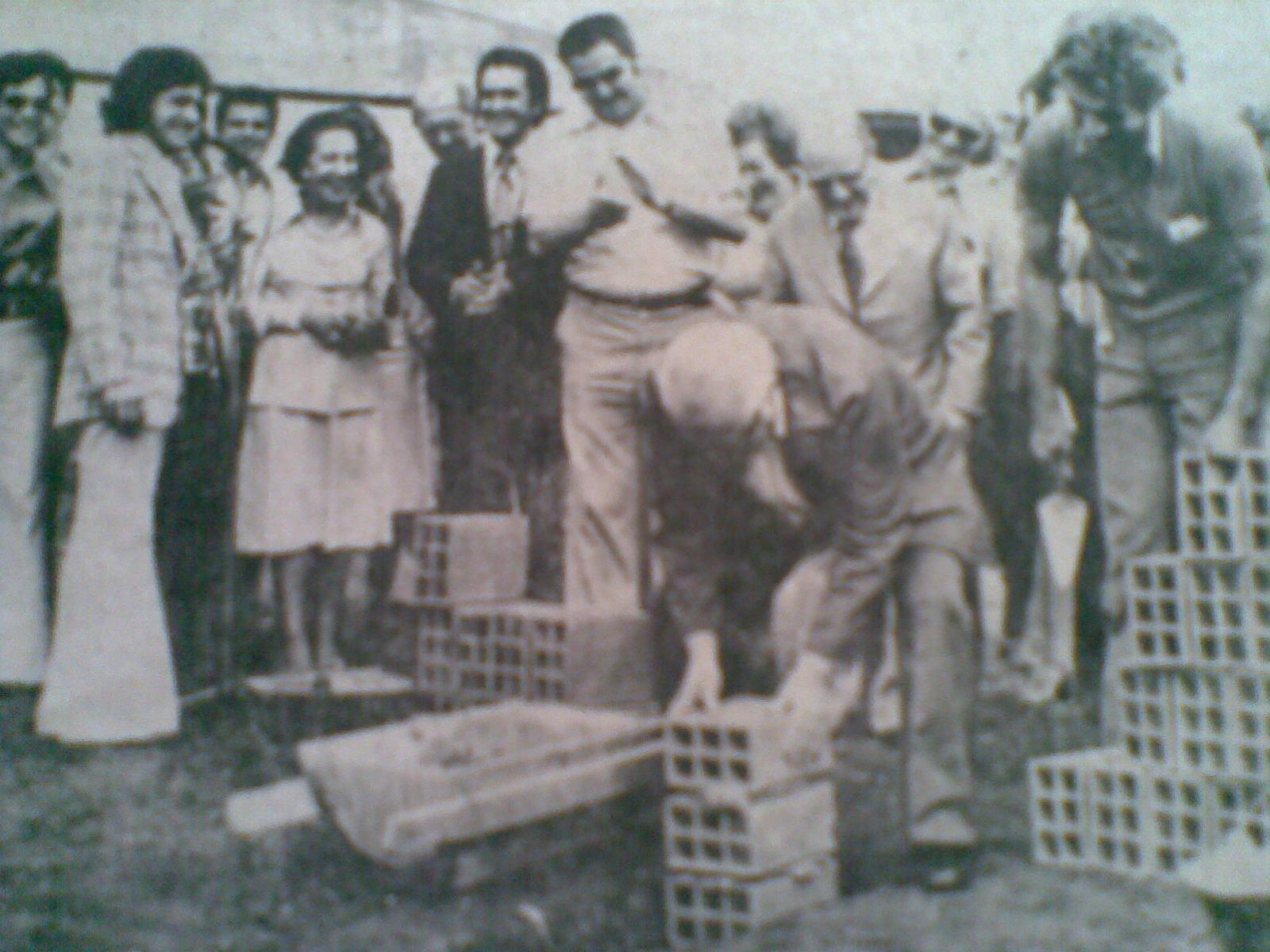 Lançamento da Pedra Fundamental do SENAC - 1977