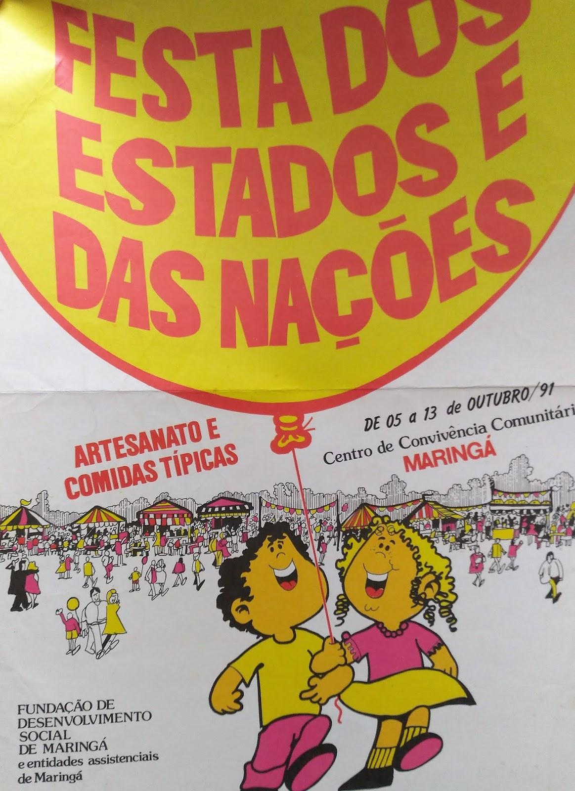 Divulgação - Festa dos Estados e das Nações - 1991