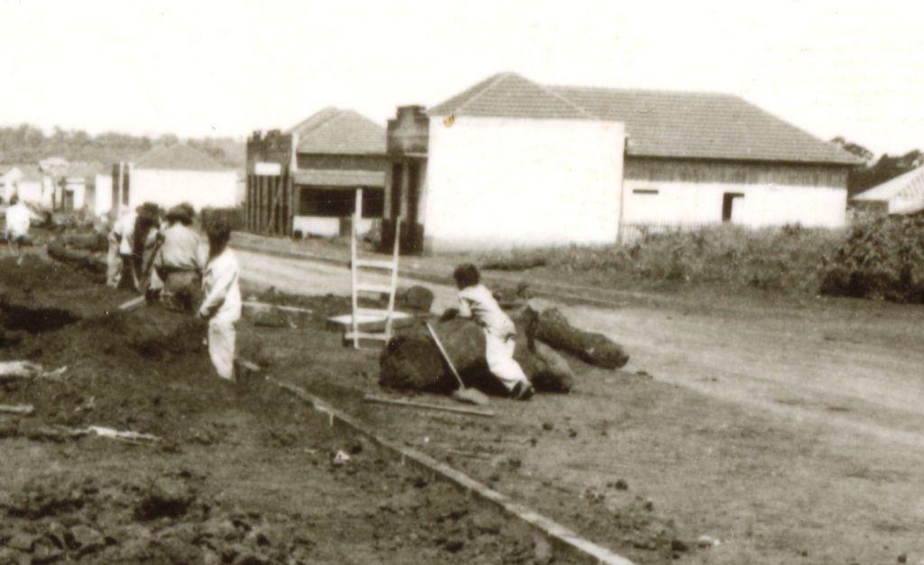 Instalação de meio-fio - Final da década de 1940