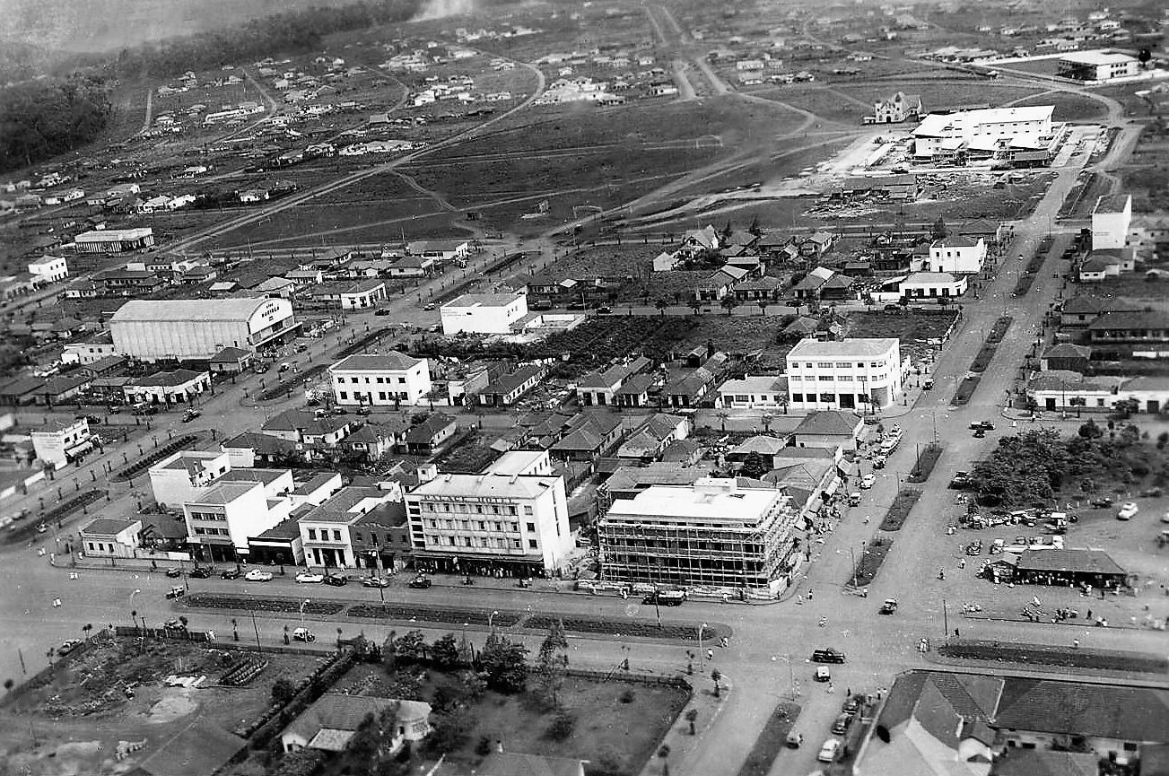 Vista aérea de Maringá - Início dos anos 1950