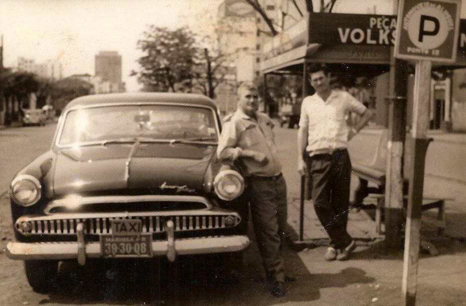 Ponto de táxi - Década de 1960