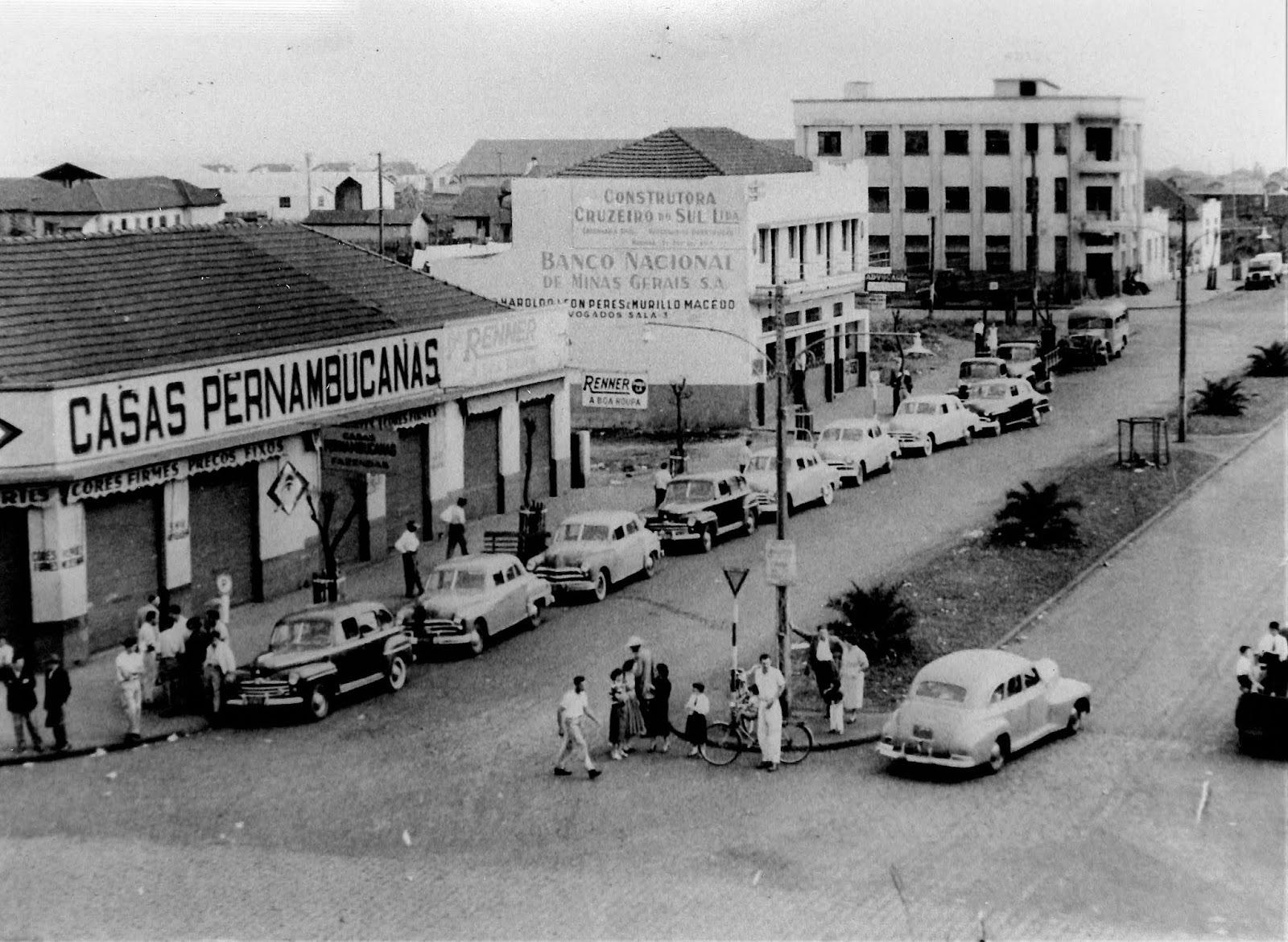 Avenida Duque de Caxias - Final dos anos 1950