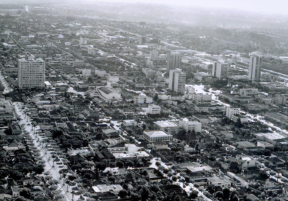 Vista aérea - Centro de Maringá - Anos 1960