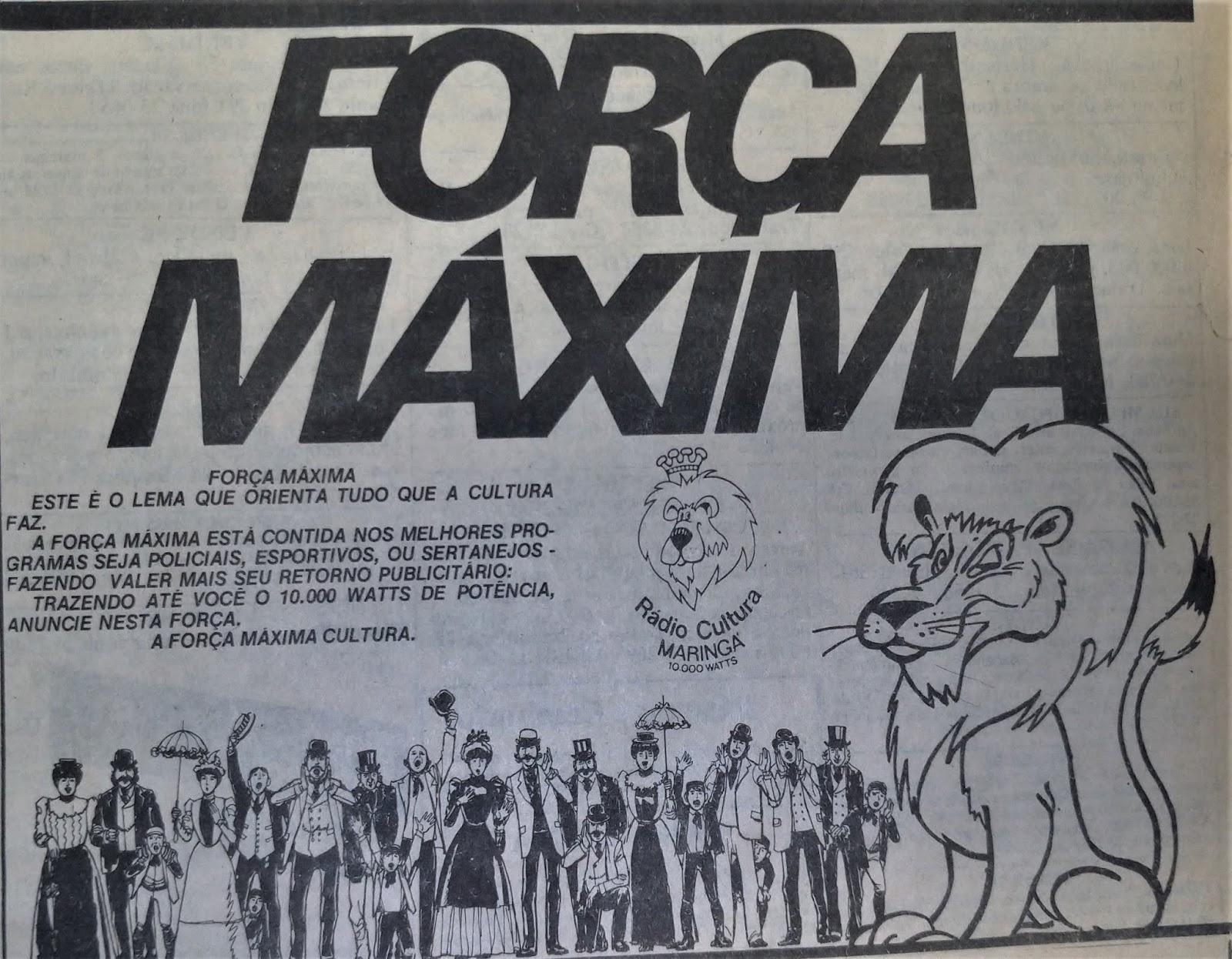 Força Máxima na Rádio Cultura - 1985