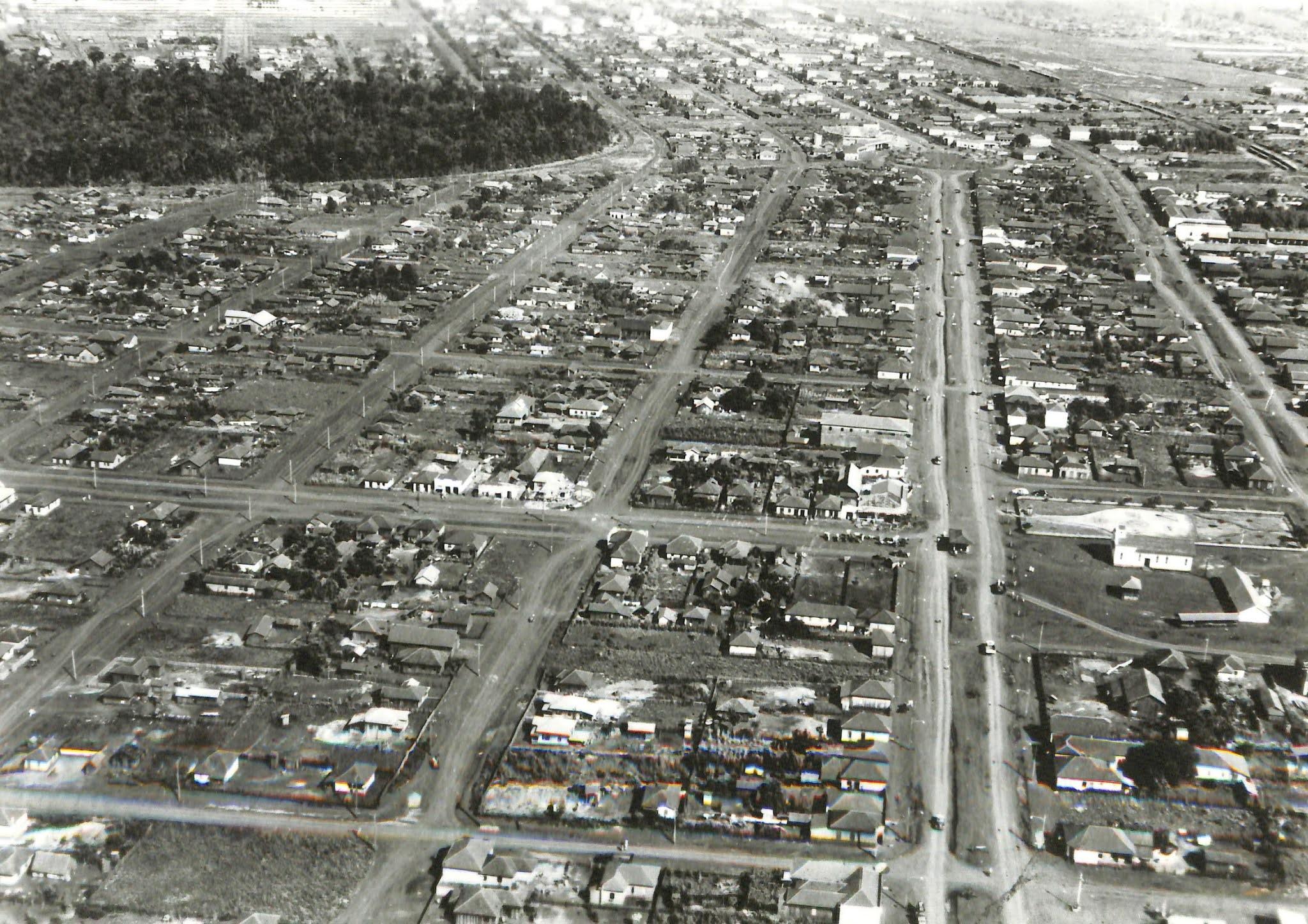 Vista aérea da Vila Operária - 1960