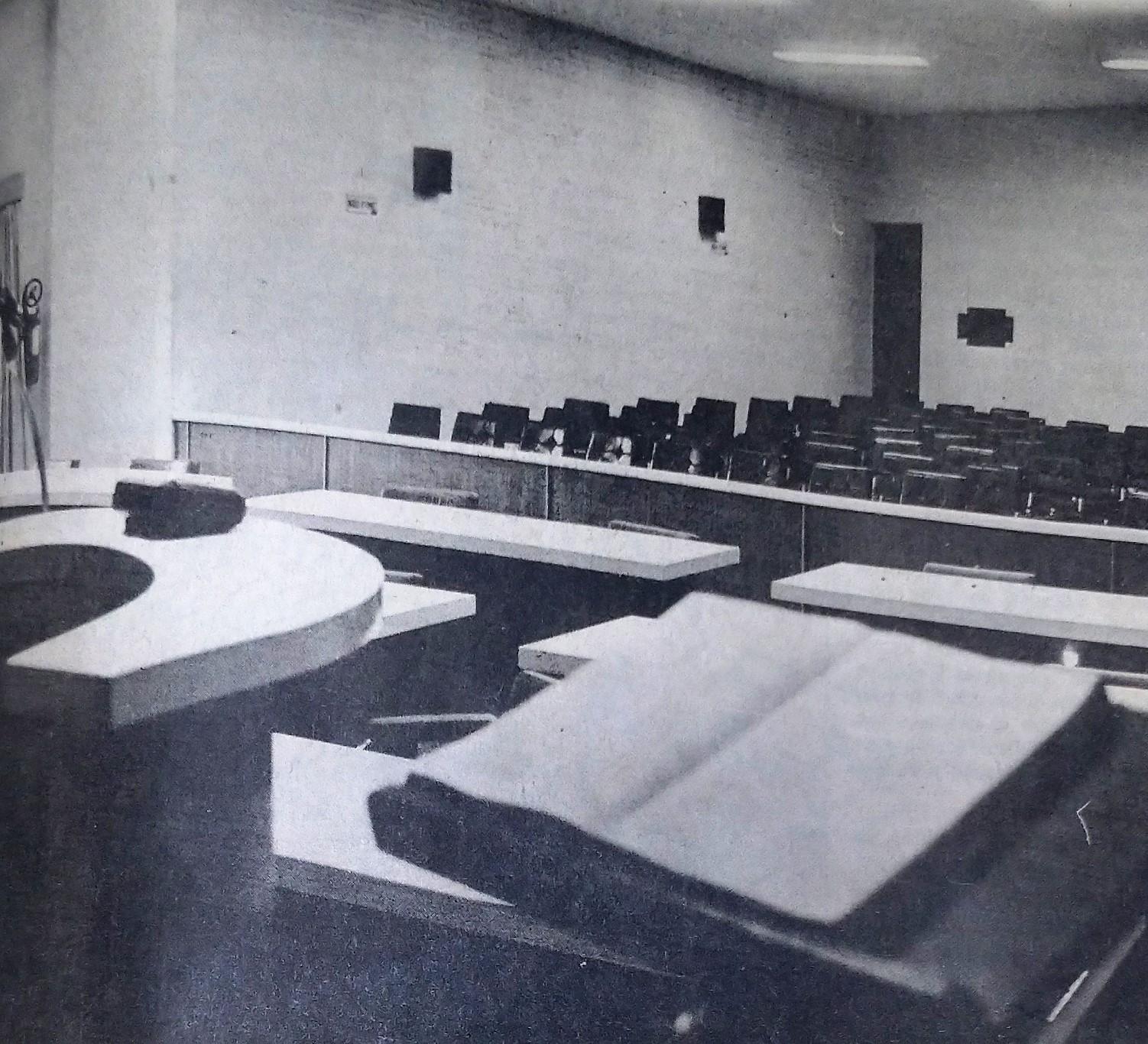 Interior da Câmara de Vereadores - 1987