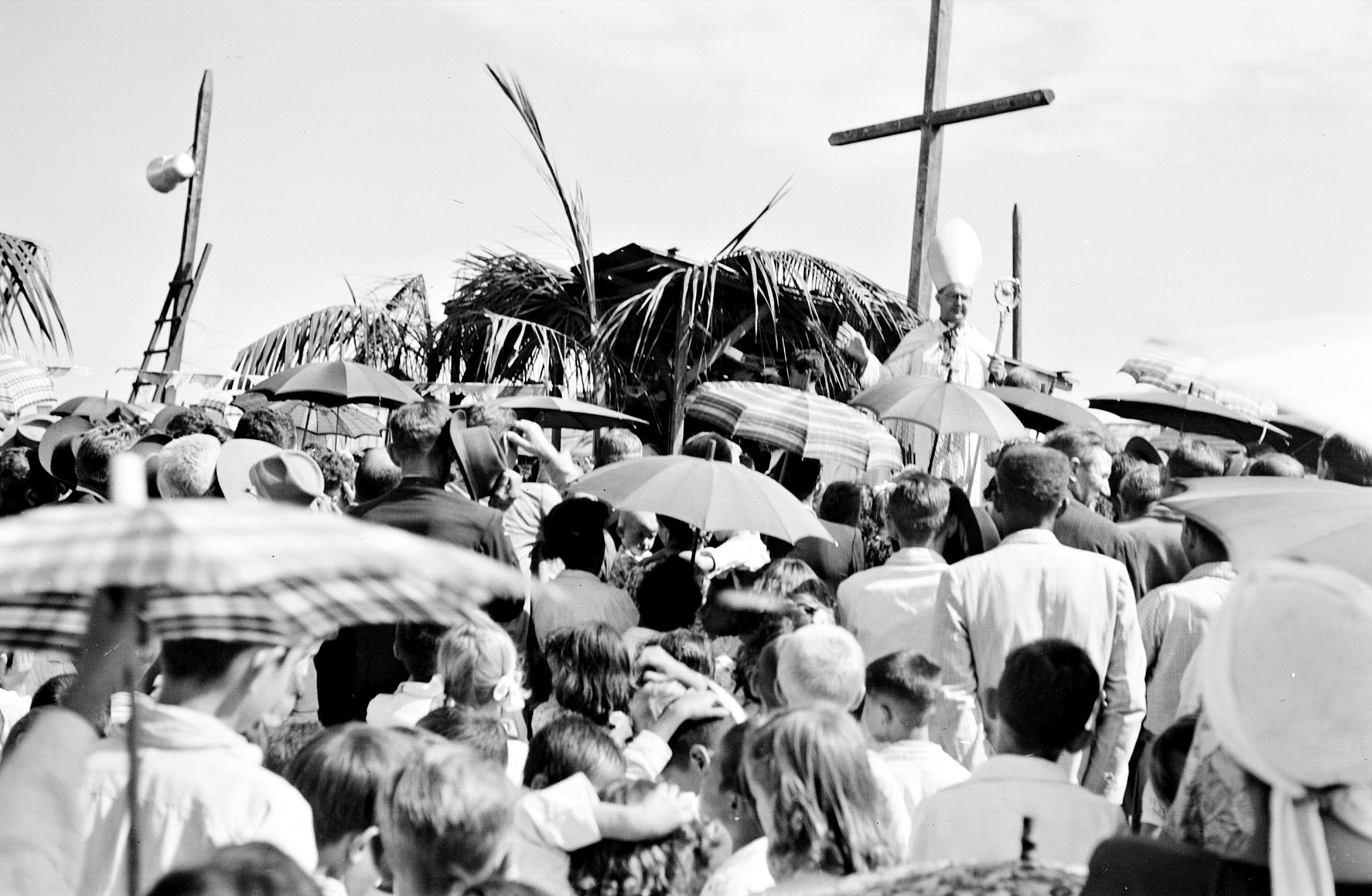 Lançamento da pedra fundamental da Igreja São José Operário - 1950