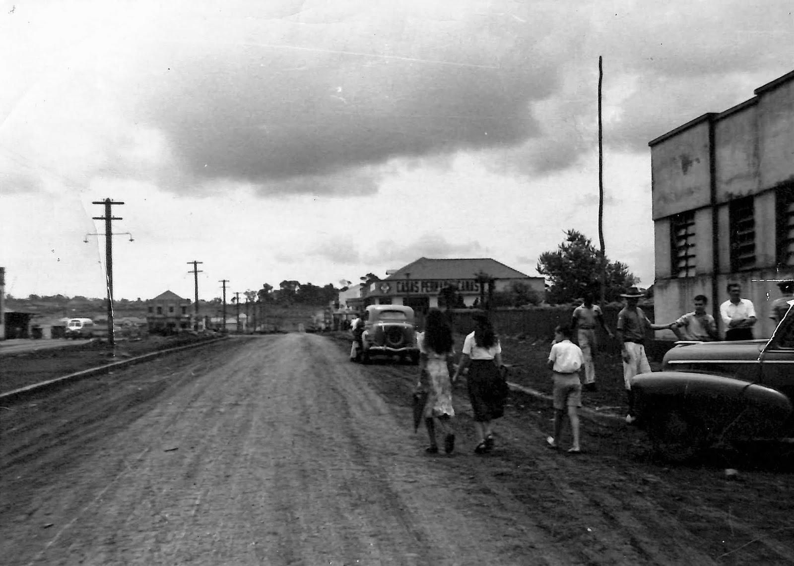 Avenida Brasil, no Maringá Novo - Início dos anos 1950