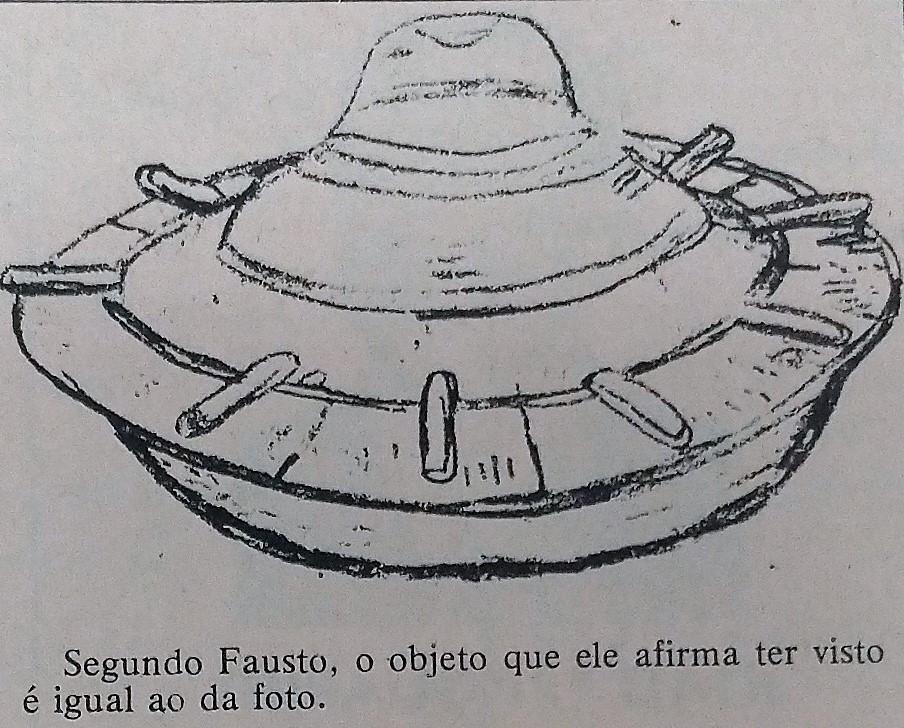 Lavrador de Sarandi viu disco voador - Novembro de 1977