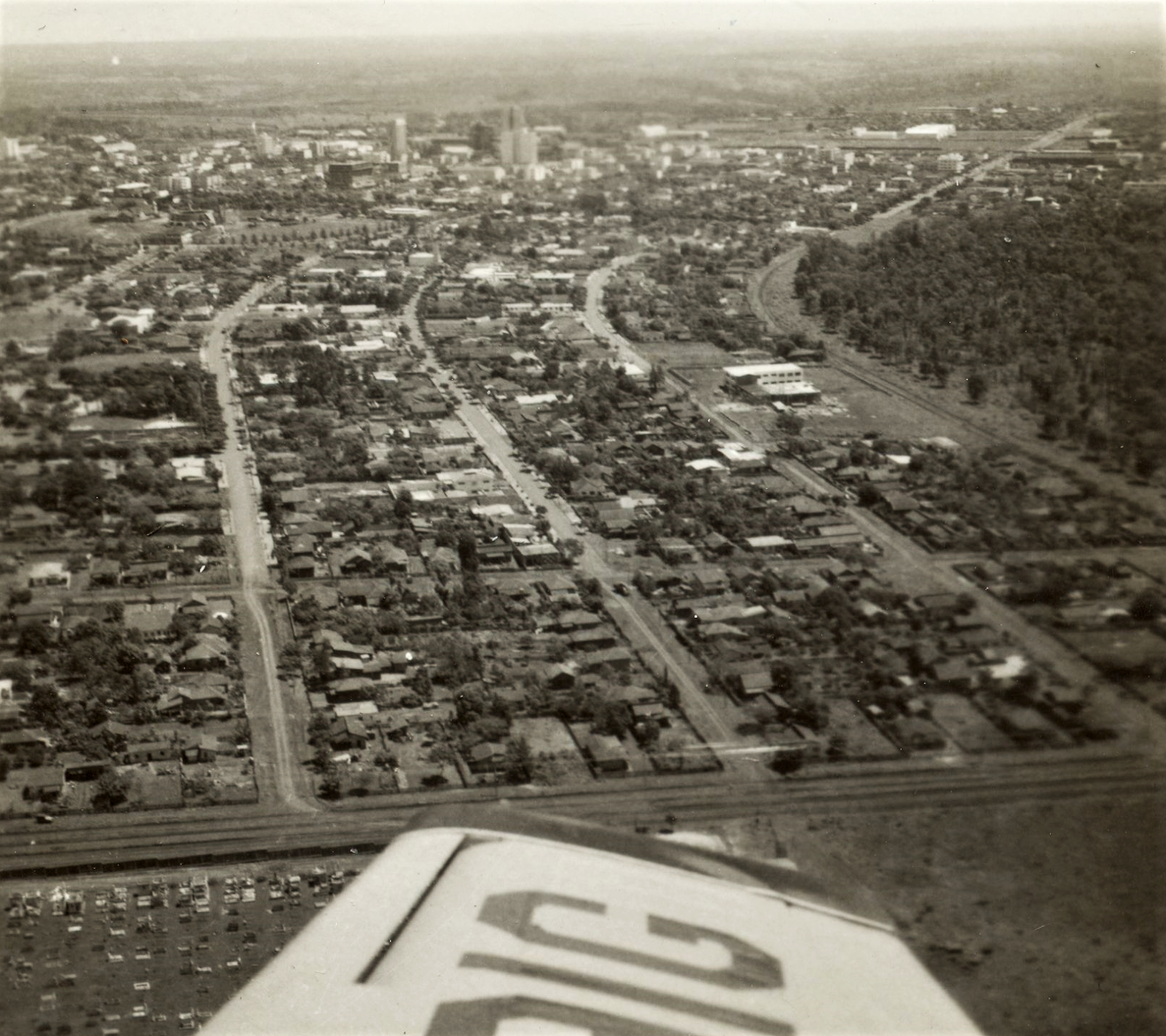 Imagem aérea da Zona 2 - Década de 1960