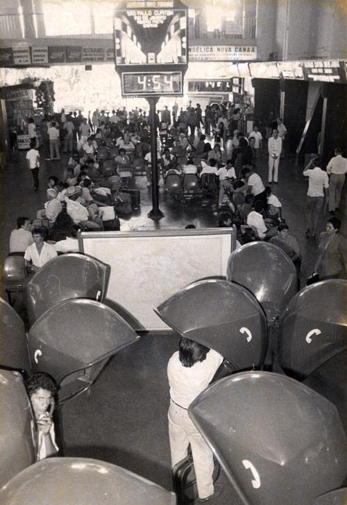 Interior da Rodoviária Américo Dias Ferraz - Década de 1980