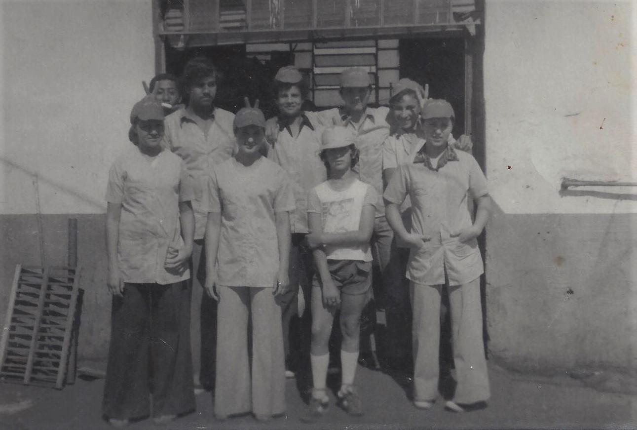 Funcionários da Sorveteria Beija-Flor - 1975