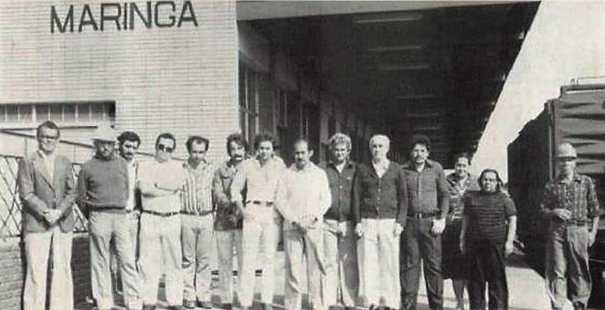 Funcionários da Estação Ferroviária - Década de 1970