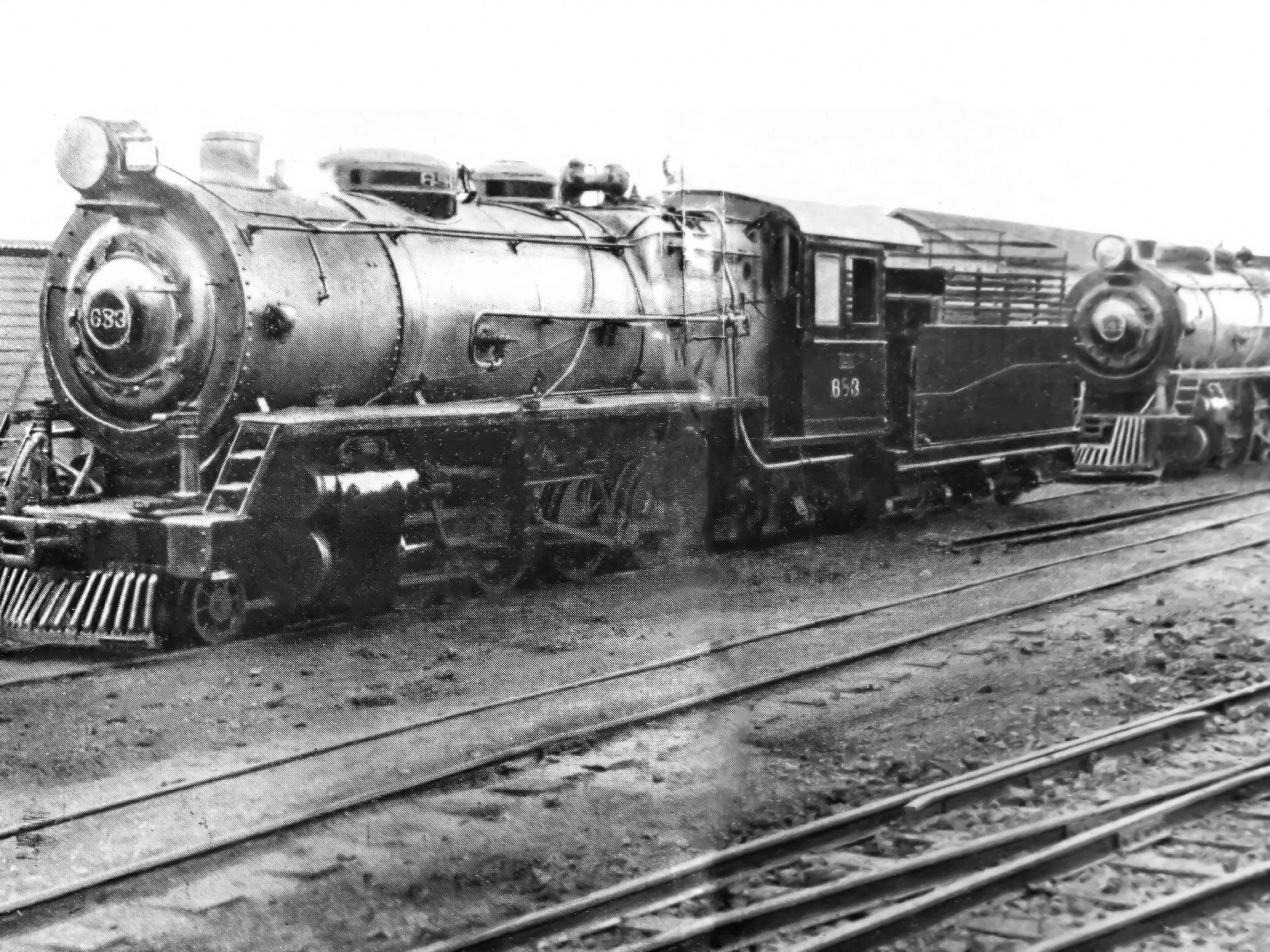 Locomotivas pelo pátio de manobras - Anos 1950