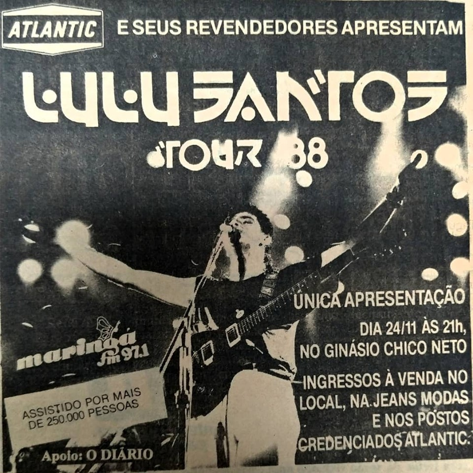Lulu Santos no Chico Netto - 1988