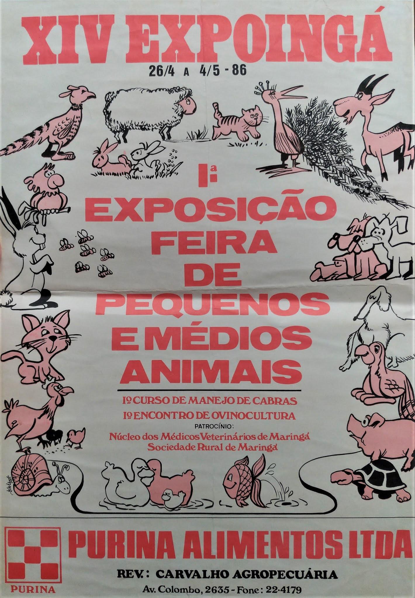1ª Feira de Pequenos e Médios Animais da EXPOINGÁ - 1986