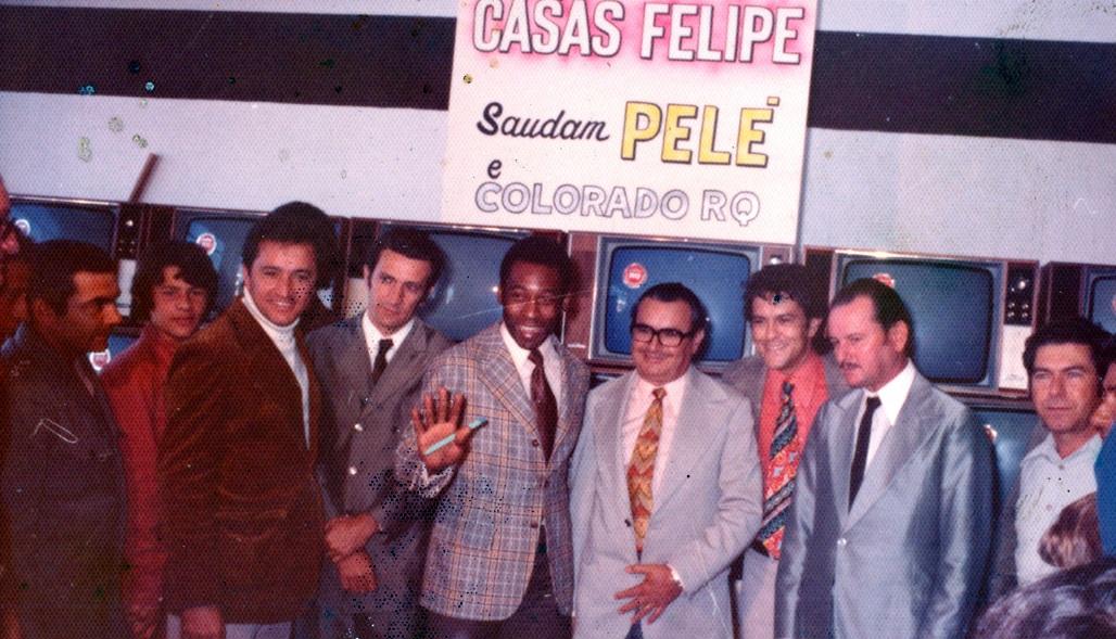 Pelé e Casas Felipe - 1974