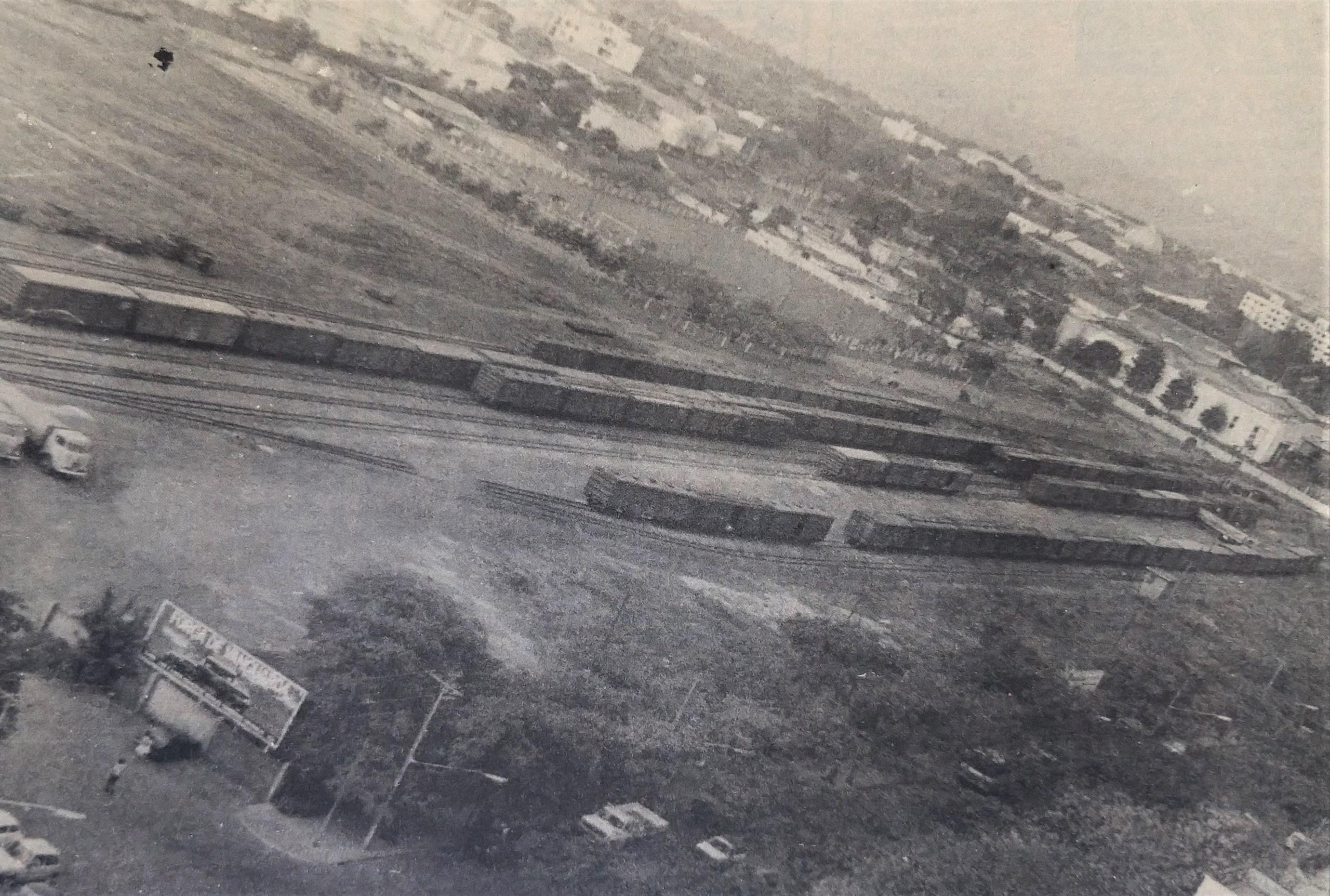 Pátio de manobras ferroviárias - 1985