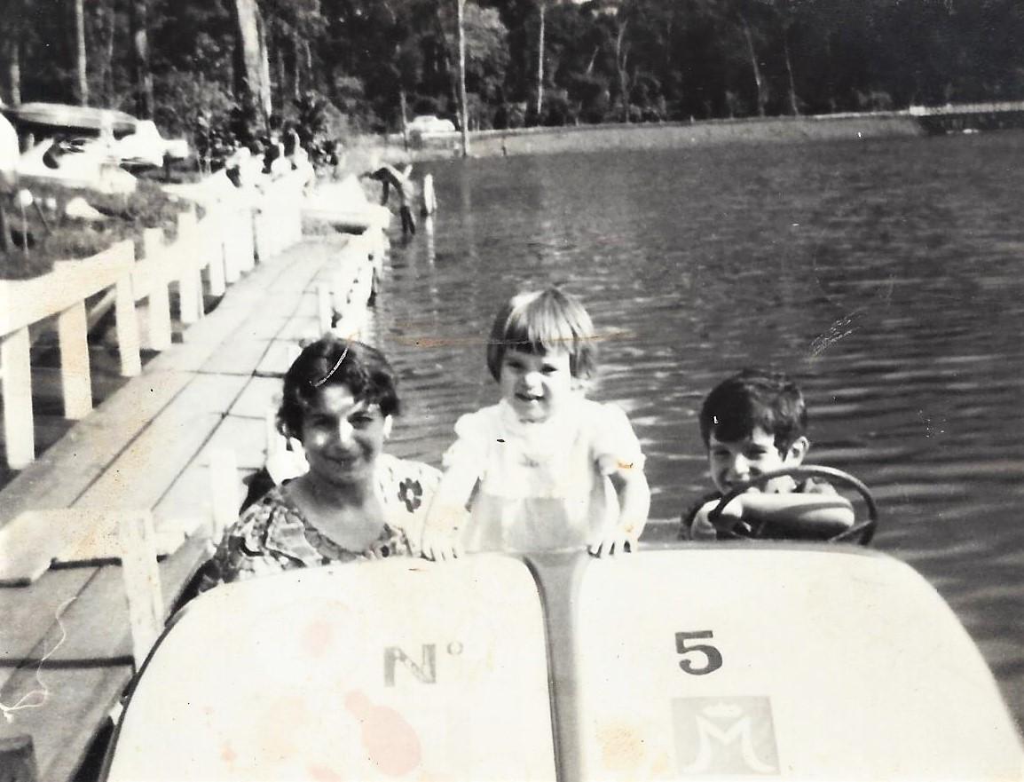 Pedalinho no Parque do Ingá - 1972