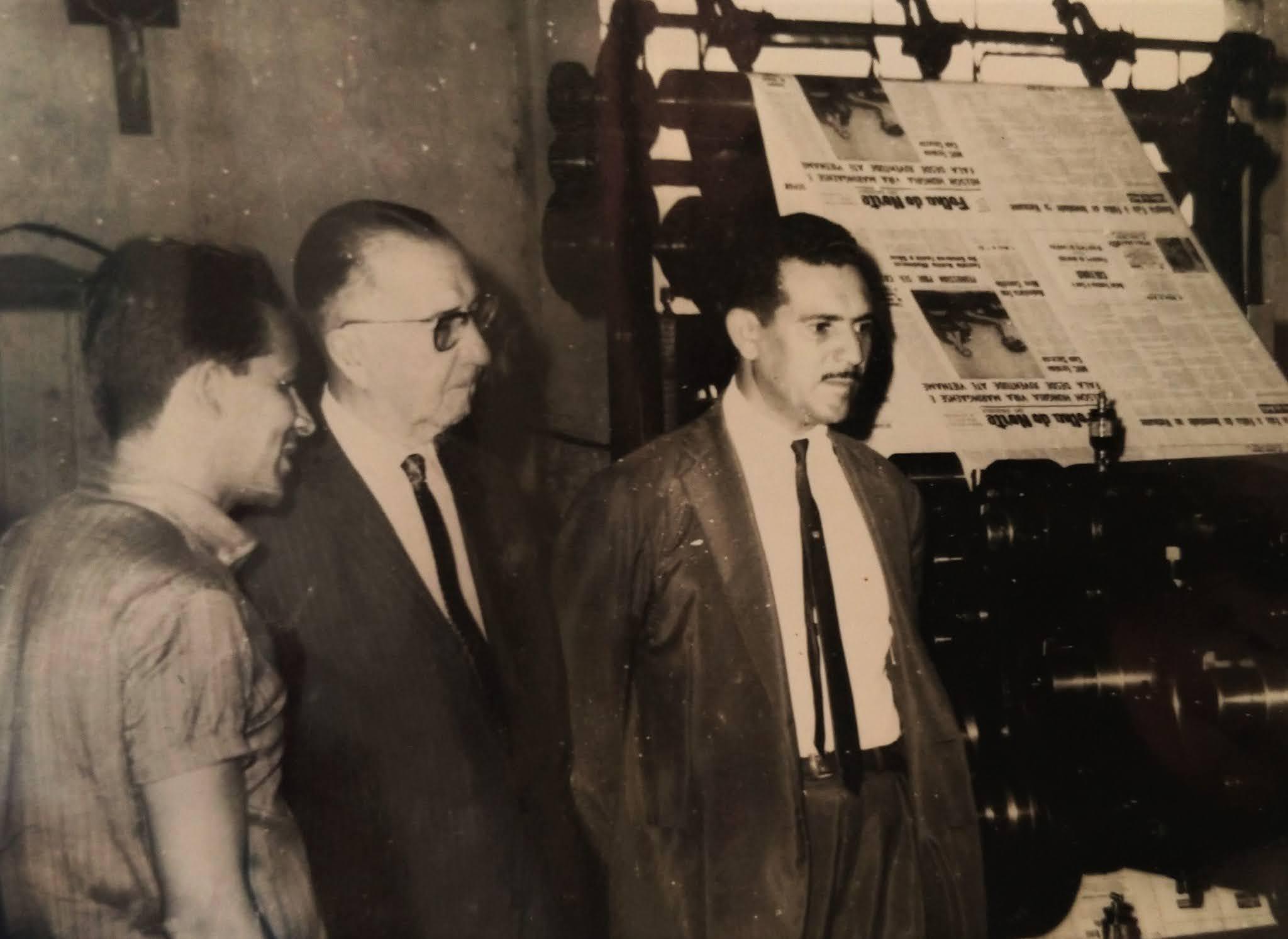 Autoridades na Folha do Norte do Paraná - Década de 1960