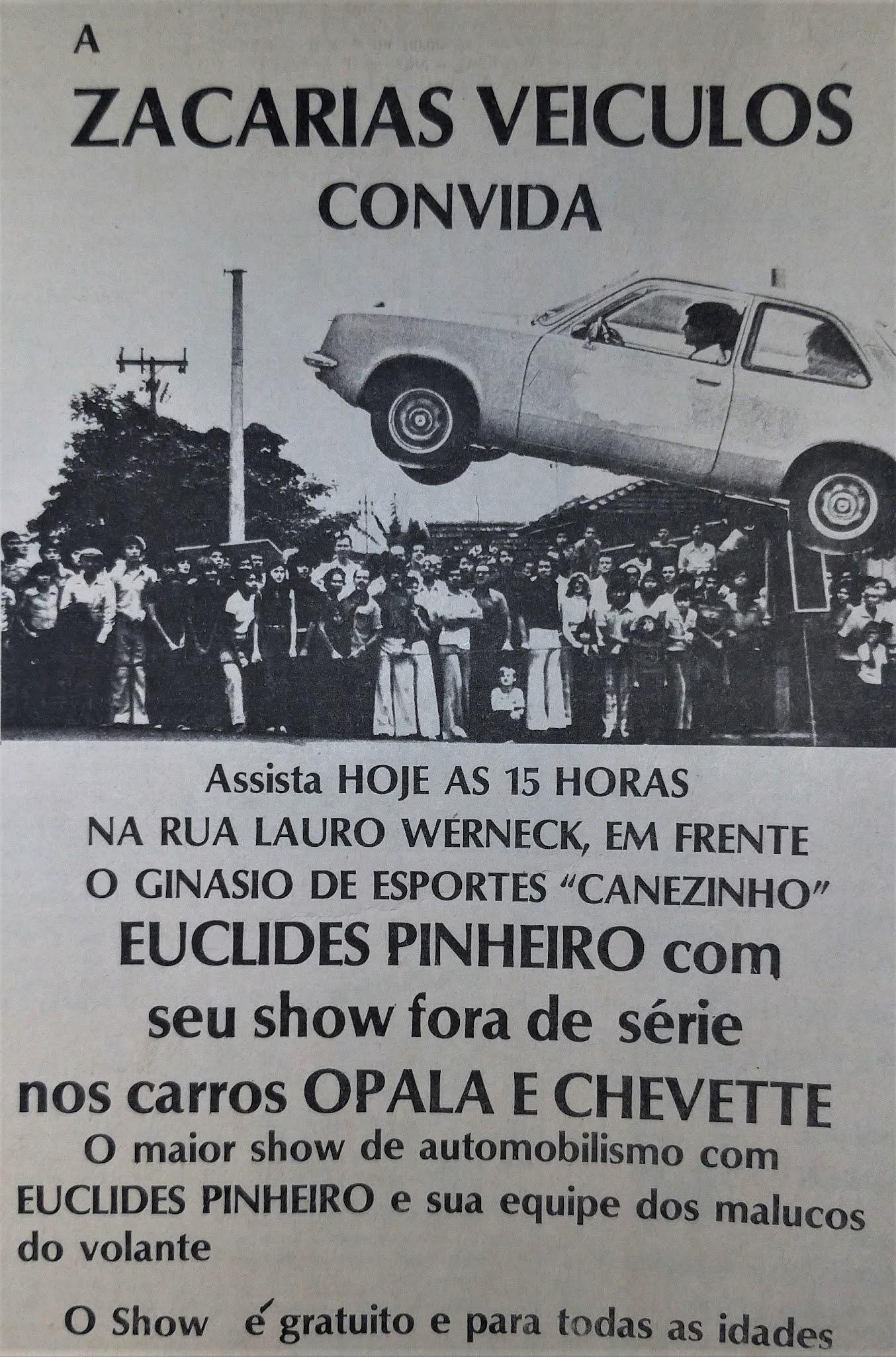 Show de automobilismo da Zacarias - 1978