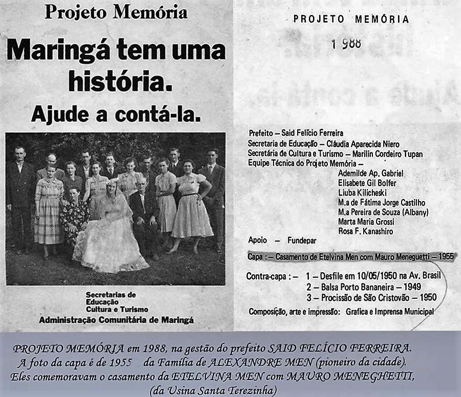 Divulgação - Projeto Memória - 1988