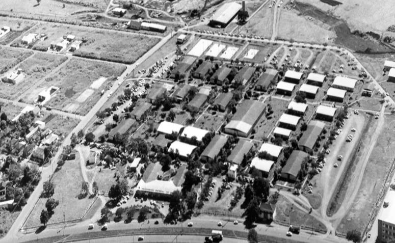 Vista aérea da UEM - Década de 1980