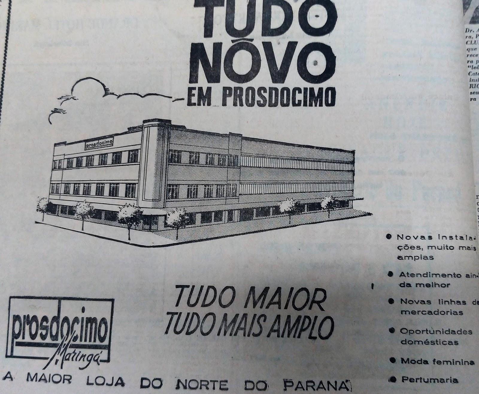 Anúncio da Prosdócimo - Outubro de 1962