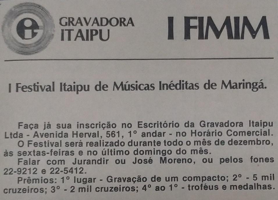 I FIMIM - Dezembro de 1978