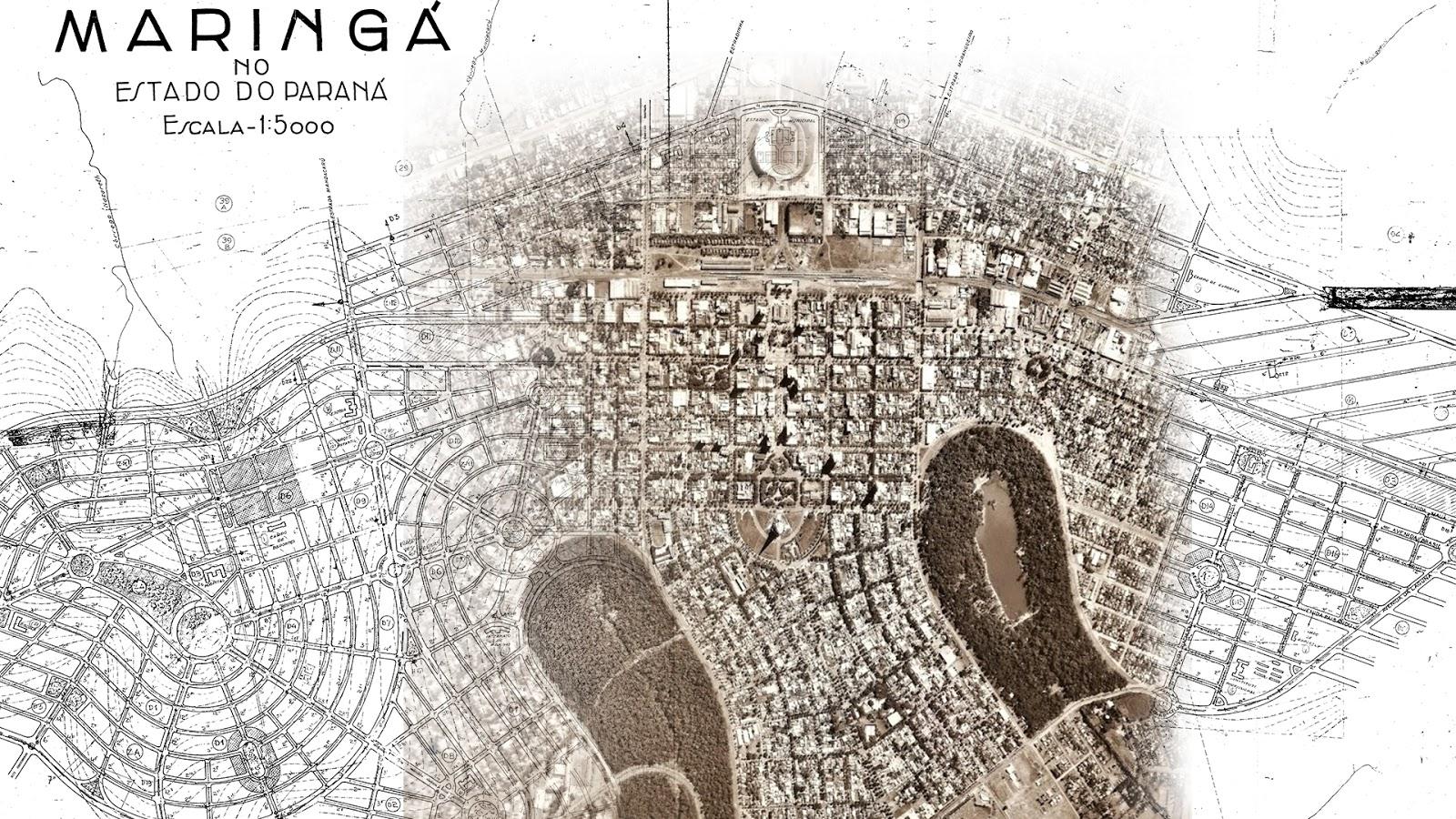 A cidade sobreposta ao seu anteprojeto