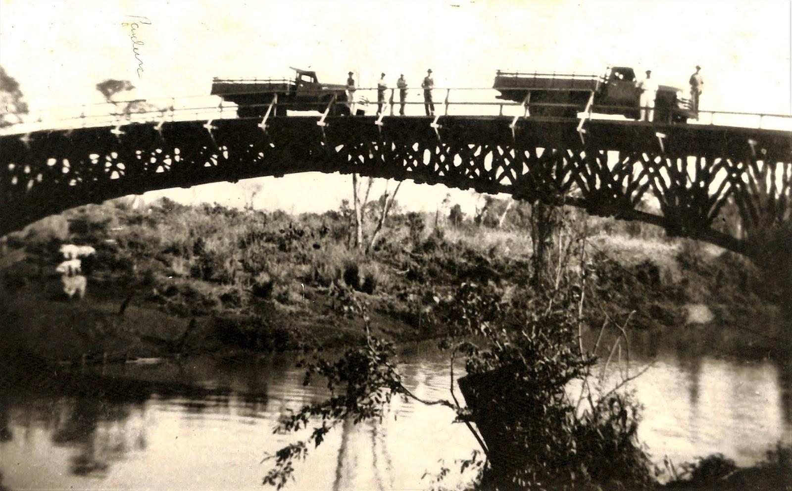 Ponte sobre o rio Pirapó - Final dos anos 1940