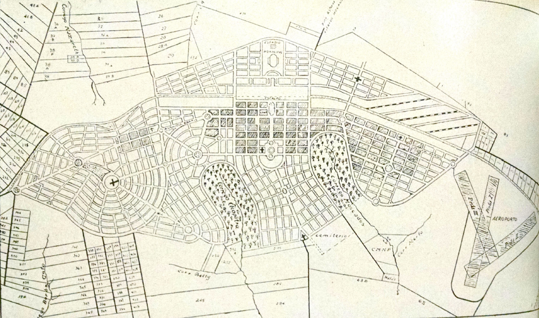 Projeto urbanístico - Década de 1940