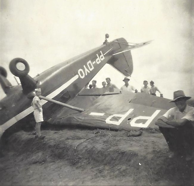 Acidente no Campo de Aviação - Final dos anos 1940
