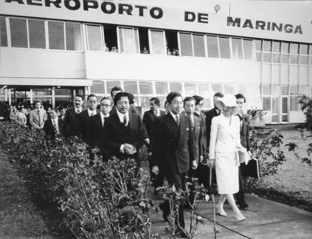 Príncipe Akihito - Aeroporto Gastão Vidigal - 1978