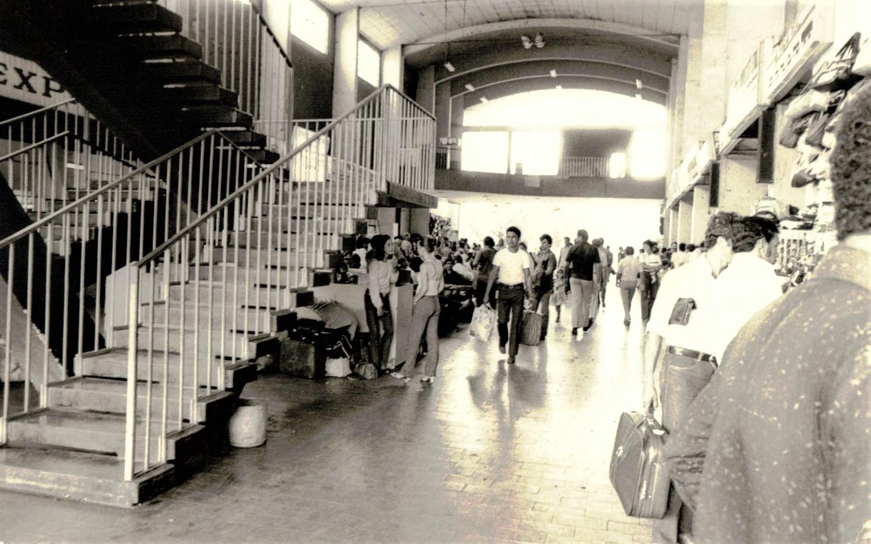Interior da Estação Rodoviária Municipal - 1980
