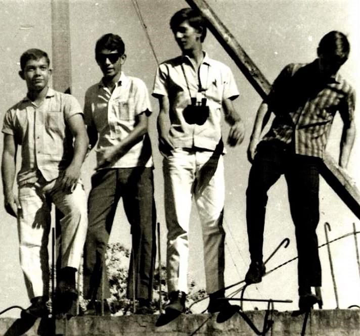 Jovens nas obras da Catedral - 1967