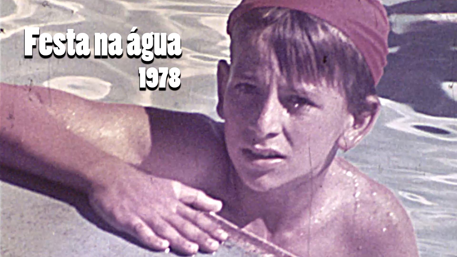 RARIDADE - Festa na água no Jardim Alvorada em 1978