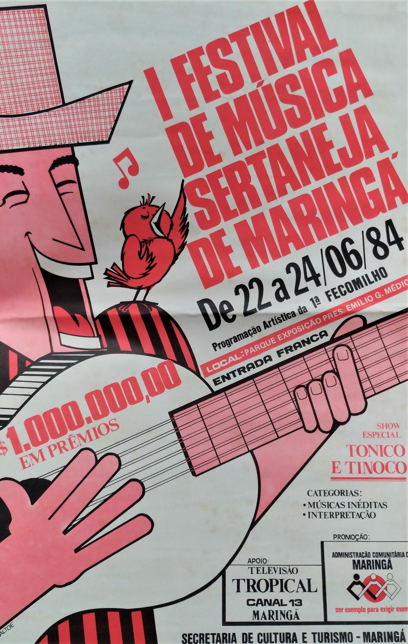 I Festival de Música Sertaneja de Maringá - 1984