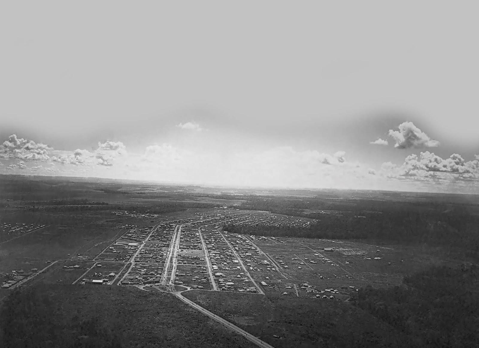Registro aéreo do Maringá Novo - Década de 1950