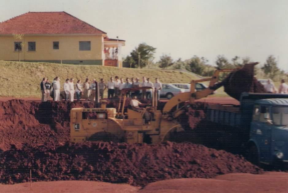 Construção da piscina da AFMM - Anos 1980