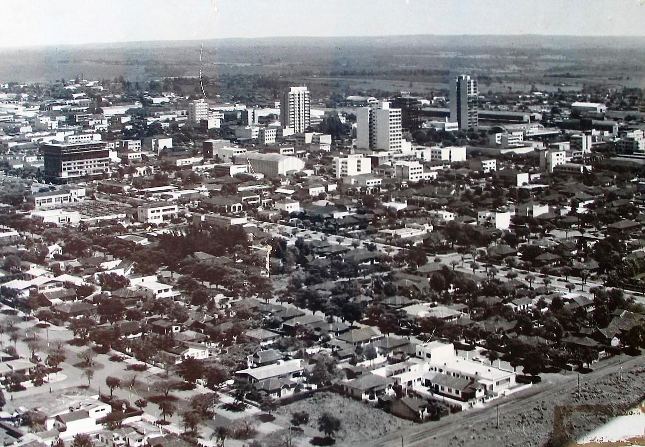 Vista aérea de Maringá - 1970