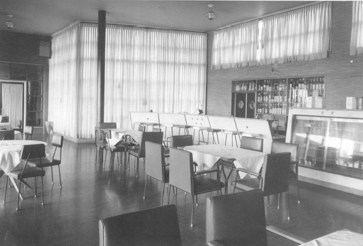 Restaurante do Grande Hotel Maringá - Década de 1950