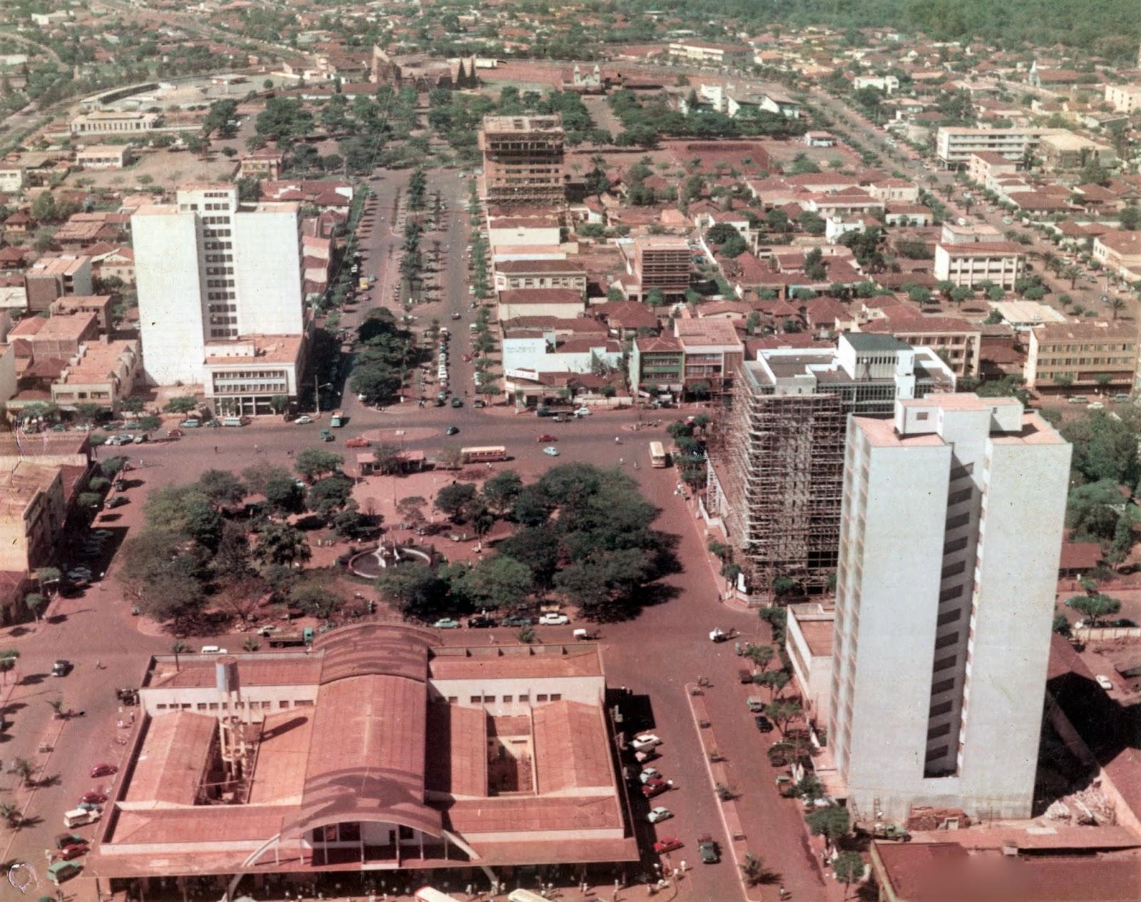 Vista aérea da região central - Década de 1960
