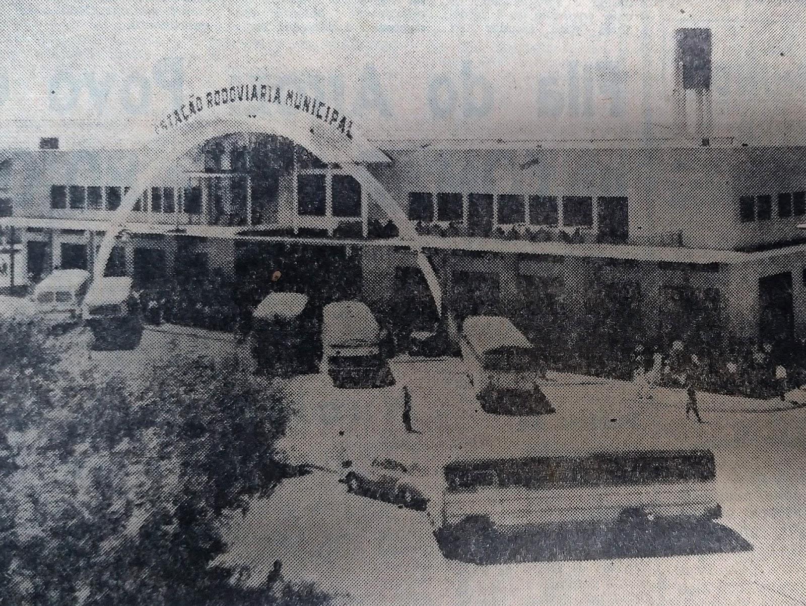 Estação Rodoviária Municipal - Novembro de 1962