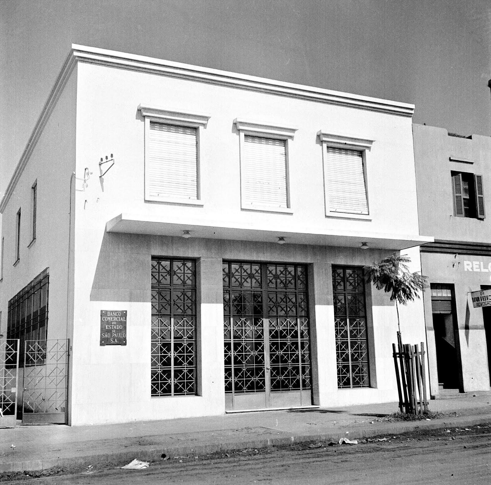Inauguração do Banco Comercial do Estado de São Paulo S.A. - Década de 1950