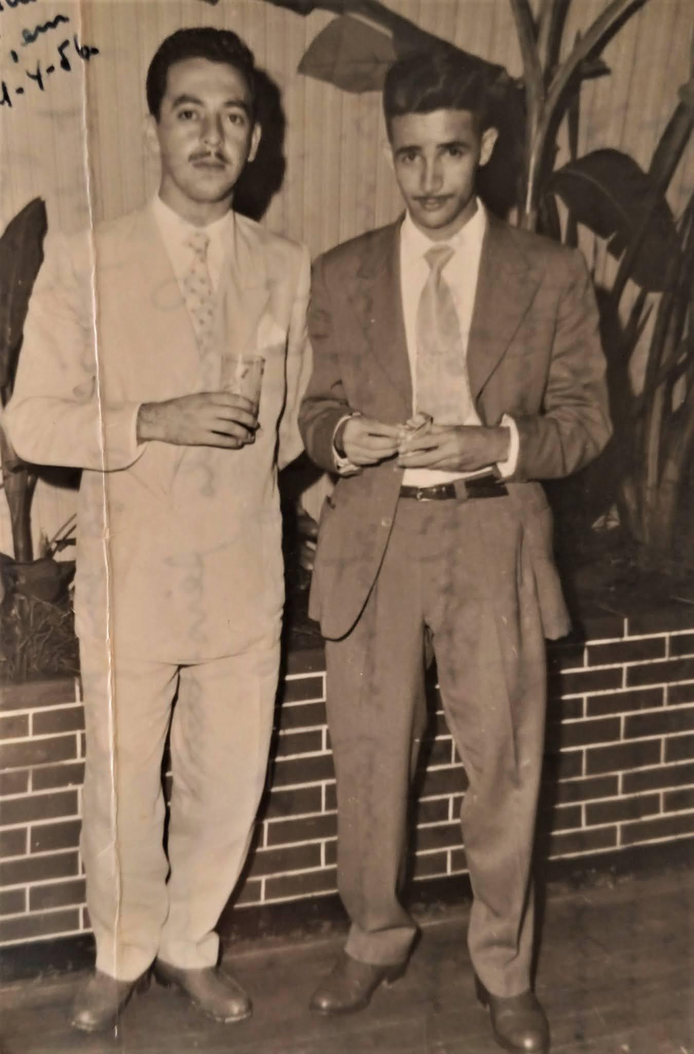 Zitão e Assis no Aero Clube - 1956