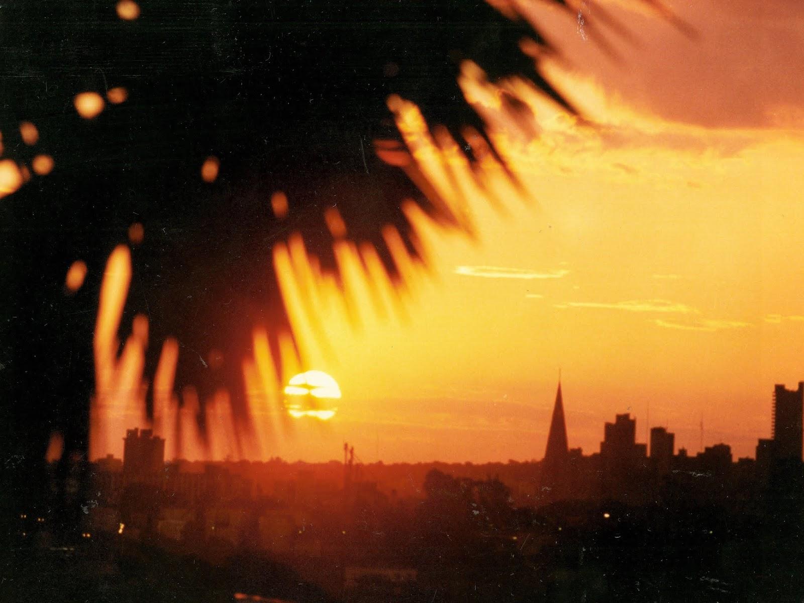 Pôr do sol em Maringá - 1995