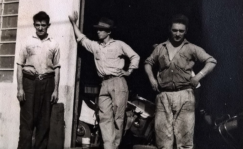 Fachada do Posto das Lambrettas - Década de 1960